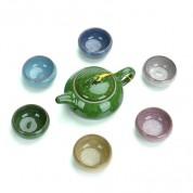 冰裂功夫茶具 套装茶杯 6色可选 (蓝.浅蓝.绿.浅绿.白.紫) [20个/箱]