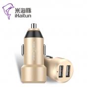米海豚 CC203【金色】双口USB车充 5V/3.4A 铝合金外壳