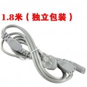 明酷 电源线【一分二线-1.8米-灰色-带包装】10A/250V 电源线