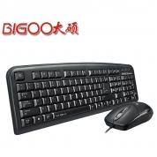 大硕键盘鼠标有线套装DT5300 键鼠套件键盘PS2 鼠标USB