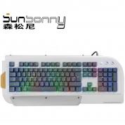 森松尼 V158 键盘 白色 PS/2游戏键盘