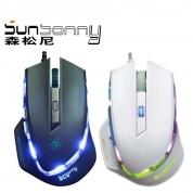 森松尼/sunsonny S-M8 鼠标  USB (黑色.白色)