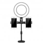 ZM-01【双机位 + 补光灯】桌面支架 手机直播支架 [40个/箱]